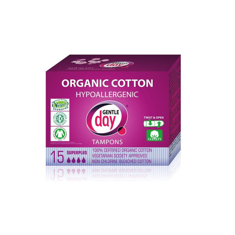 Organic Cotton Tampon SUPER PLUS 15 PC