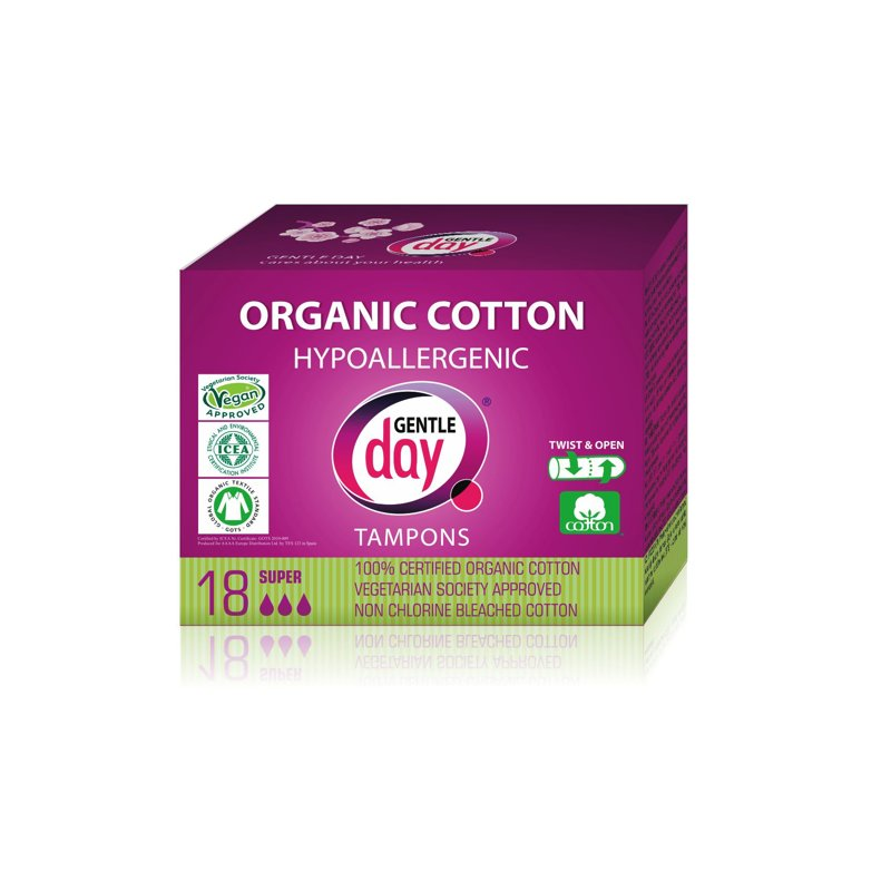 Organic Cotton Tampons SUPER 18 PC