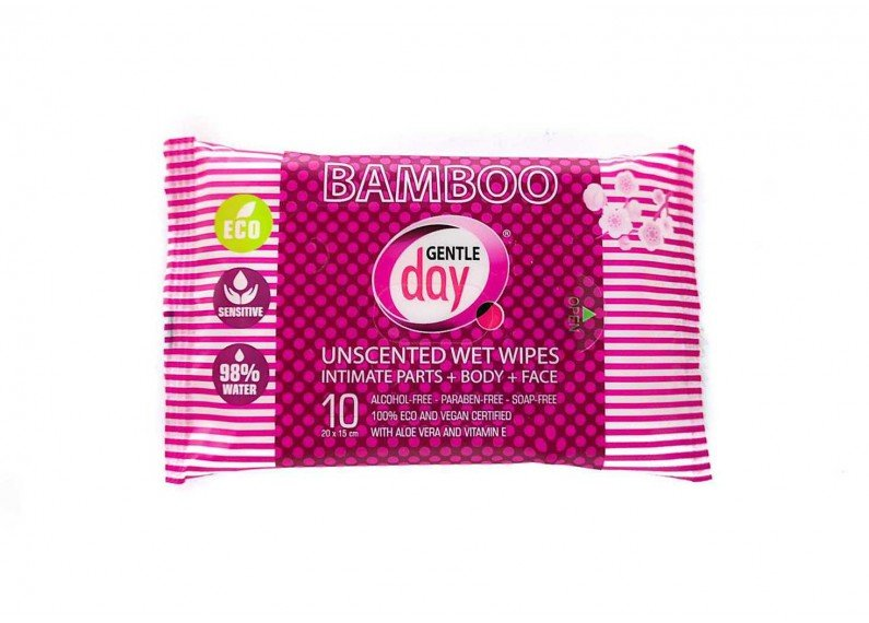 Organic Bamboo Intimate Wipes 10 PC